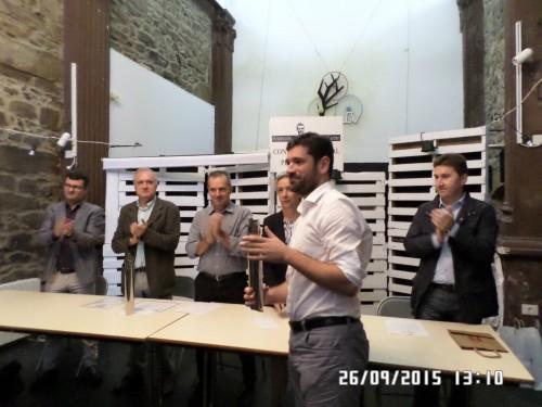 XIV edición do Premio Plácido Castro de tradución. Acto de entrega a Mona Imai e Alejandro Tobar. Corcubión, 26 de setembro de 2015.