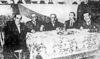 Mesa da Asemblea fundacional do Partido Galeguista