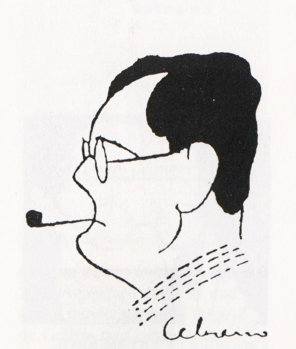 Caricatura de Cebreiro de Plácido Castro