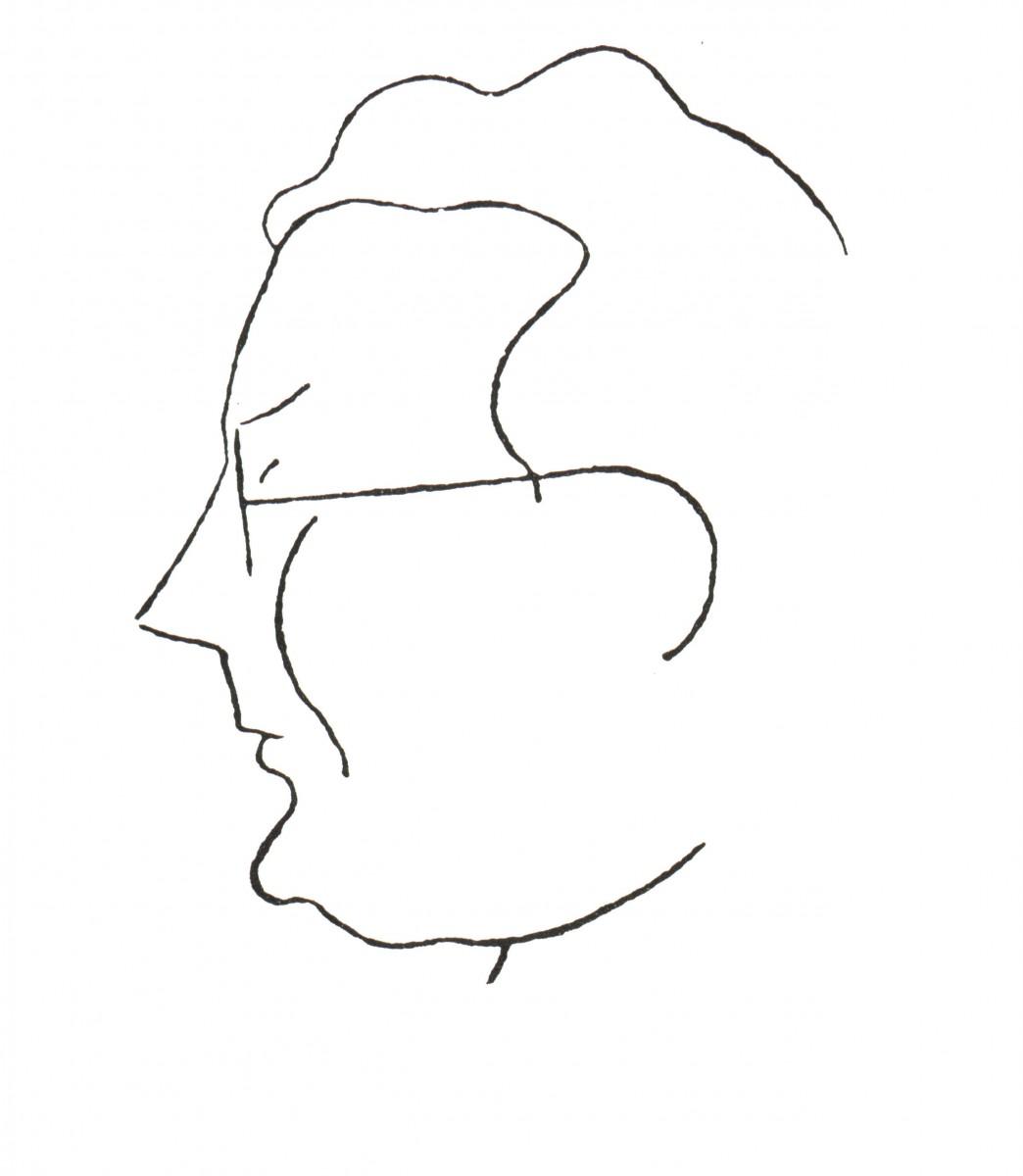 Caricatura de Maside de Plácido Castro