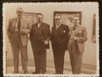 Con Fernández del Riego e os irmans Álvarez Blázquez