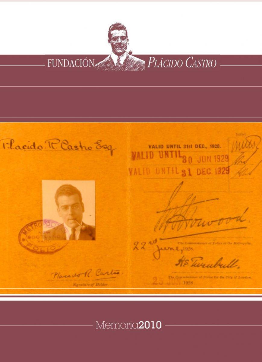 Memoria de actividade da Fundación Plácido Castro 2010