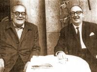 Retrato de Plácido Castro con Cunqueiro