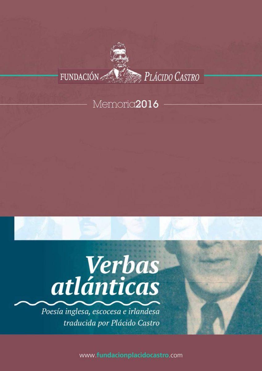 Memoria de actividade da Fundación Plácido Castro 2016 (capa principal)
