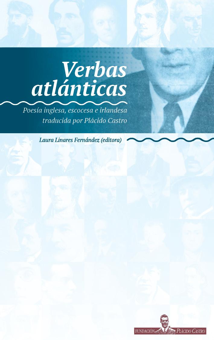 """Portada """"Verbas atlanticas"""". Poesía inglesa, escocesa e irlandesa traducida por Plácido Castro. Editora: Laura Linares Fernández"""